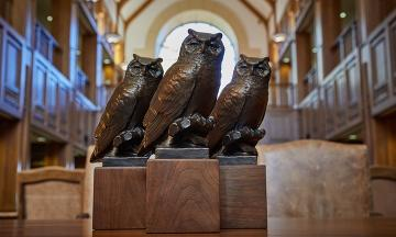 Owl Statues in the Law Library