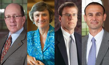 OU Law Professors Jonathan Forman, Mary Sue Backus, Steven Cleveland, Taiawagi Helton
