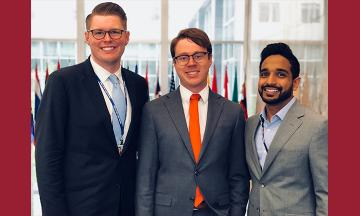 OU Law students Jason Bollinger, Ryan Geary, and Adnan Qazi